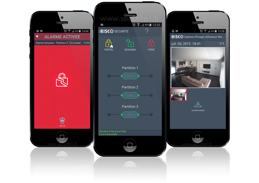 Application iRisco pour Agility ou LightSYS - SECURITE 1