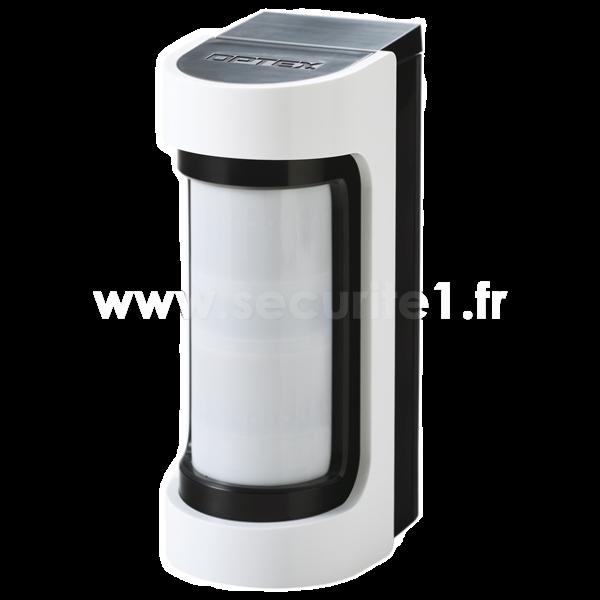 Détecteur extérieur sans fil OPTEX série VXS blanc et noir