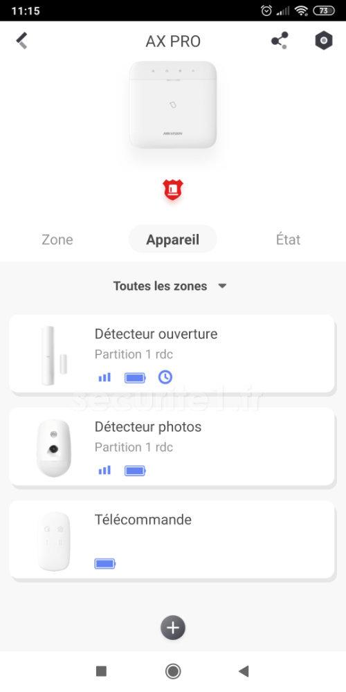 HikConnect - ajouter les appareils