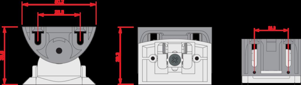 Rotule Inim XBK100 détails