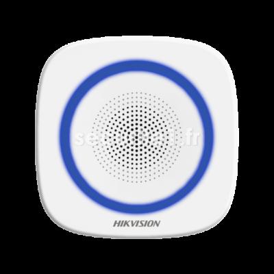 Sirène intérieure sans fil HIKVISION DS-PS1-I-WE flash coloris bleu