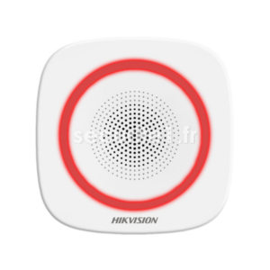 Sirène intérieure sans fil HIKVISION DS-PS1-I-WE flash coloris rouge